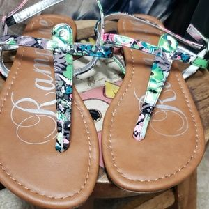 Rampage Floral Sandals